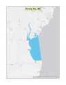 Map of Herring Bay, MD no-discharge zone