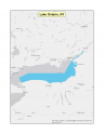 Map of no-discharge zone established for the New York waters of Lake Ontario
