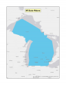 Map of Michigan no-discharge zone