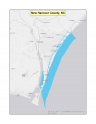 Map of New Hanover County, NC no-discharge zone